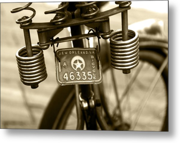 Pedaling New Orleans Metal Print by Wayne Archer