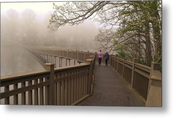 Pedestrian Bridge Early Morning Metal Print