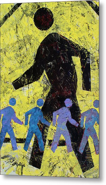 Pedestrian Crossing Metal Print