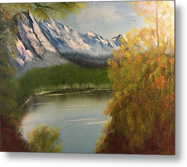 Peek-a-boo Mountain Metal Print