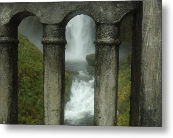 Peeking Through Metal Print by Lori Mellen-Pagliaro