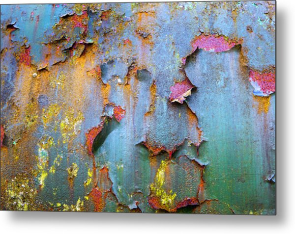 Peeling Paint And Rust Textures 135 Metal Print