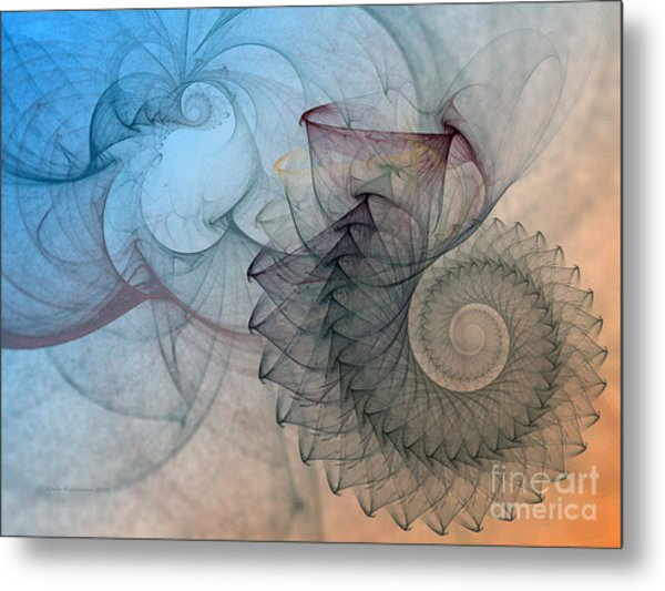 Pefect Spiral Metal Print