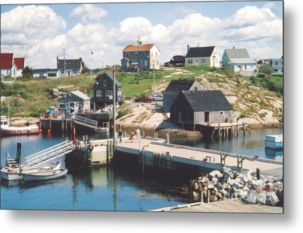 Peggy's Cove Metal Print by Andrea Simon