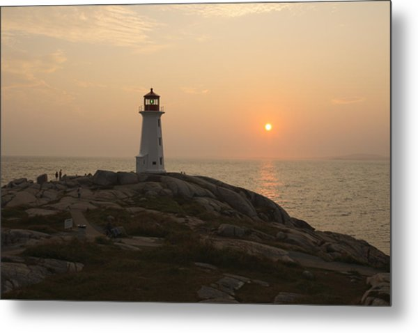 Peggy's Cove Lighthouse Metal Print