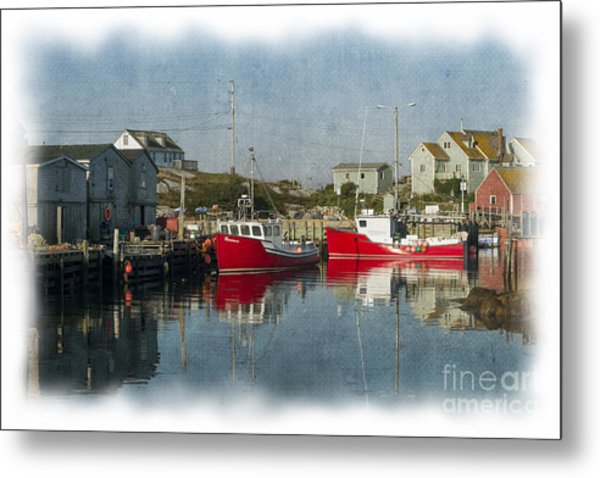Metal Print featuring the photograph Peggys Cove Marina by Dan Friend