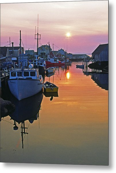Peggy's Cove Sunset, Nova Scotia, Canada Metal Print