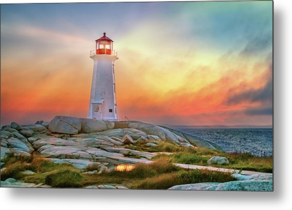 Peggy's Cove Sunset Metal Print