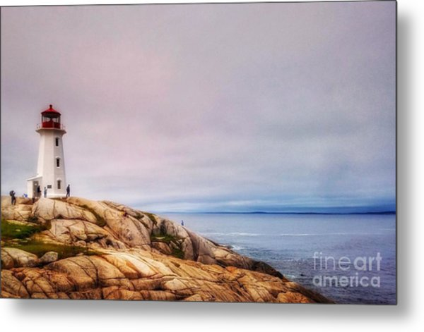 Peggys Point Lighthouse Metal Print