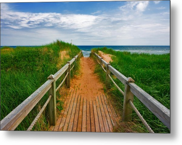 Pei Beach Boardwalk 2 Metal Print