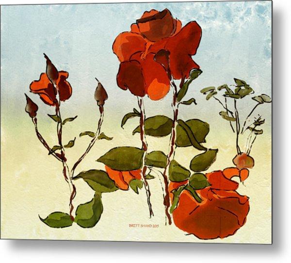 Peka Peka Roses Metal Print