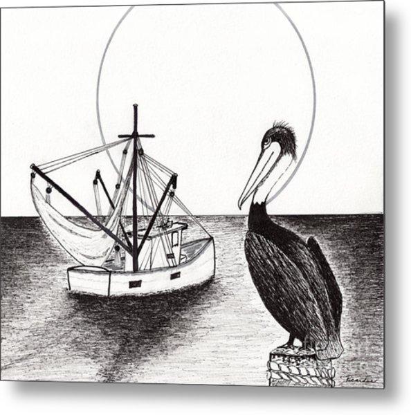 Pelican Fishing Paradise C1 Metal Print