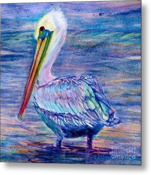 Pelican Gaze Metal Print