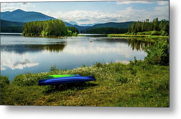 Pelicans At Shadow Mountain Lake Metal Print