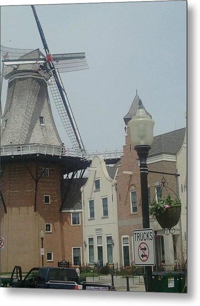 Pella Iowa Windmill Metal Print