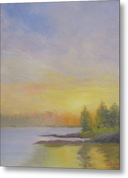 Pemaquid Beach Sunset Metal Print