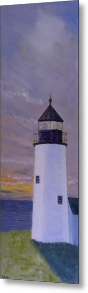 Pemaquid Light Morning Light Metal Print