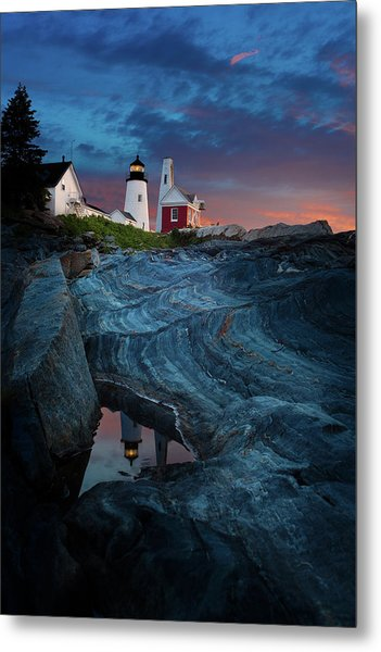 Pemaquid Lighthouse At Dawn Metal Print