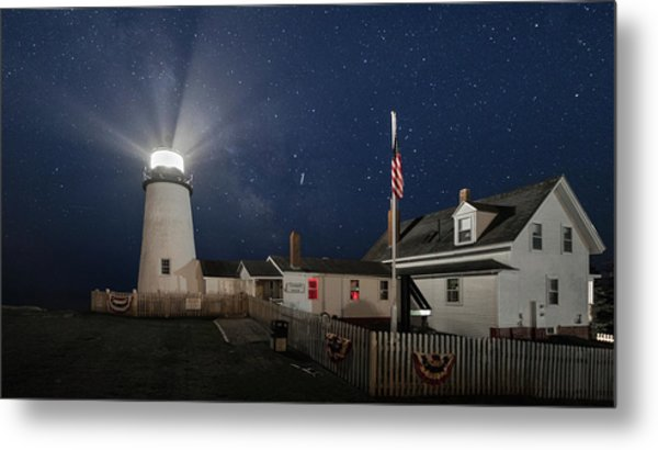 Pemaquid Point Light Flare Metal Print