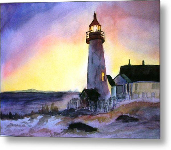 Pemaquid Point Lighthouse Maine Metal Print