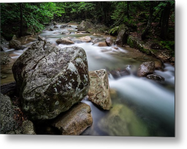Metal Print featuring the photograph Pemi-basin Trail by Michael Hubley