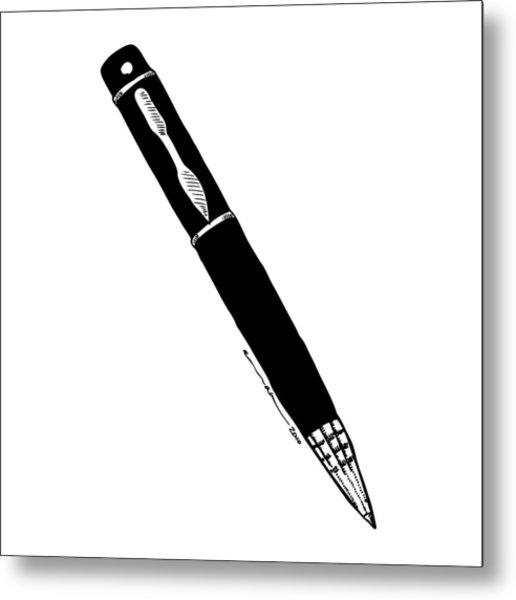Pen Metal Print by Karl Addison