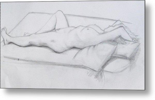 Pencil Sketch 1.2011 Metal Print