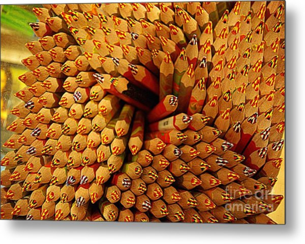 Pencils Pencils Everywhere Pencils Get The Point...lol Metal Print
