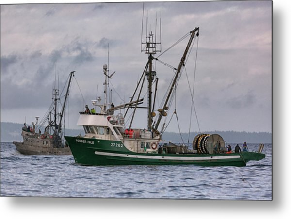 Pender Isle And Santa Cruz Metal Print