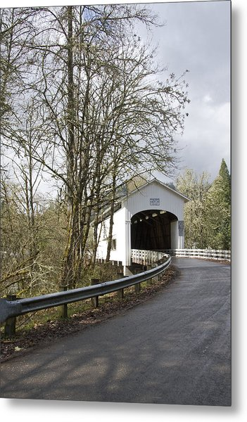 Pengra Covered Bridge Metal Print by John Higby