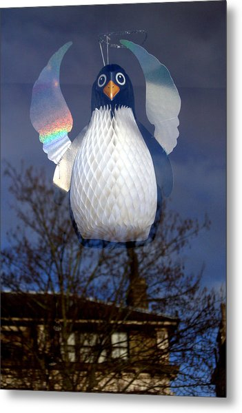 Penguin Angel Metal Print by Jez C Self