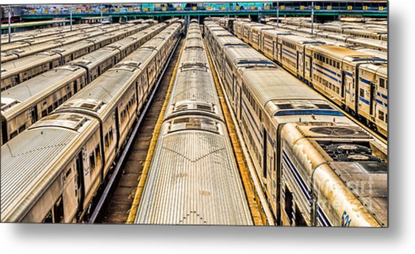 Penn Station Train Yard Metal Print
