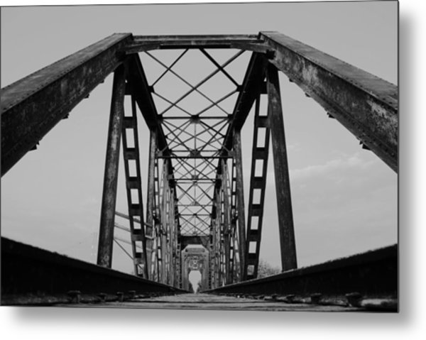Pennsylvania Steel Co. Railroad Bridge Metal Print
