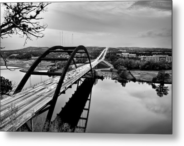 Metal Print featuring the photograph Pennybacker Bridge by John Maffei