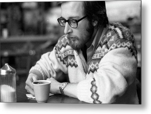 Pensive Brown Student, Louis Restaurant, 1976 Metal Print