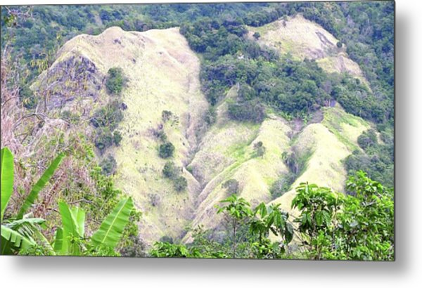 Penuelas, Puerto Rico Mountains Metal Print