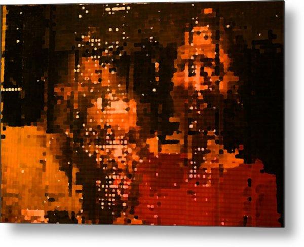 People In Mirror Metal Print by Sephora Silva