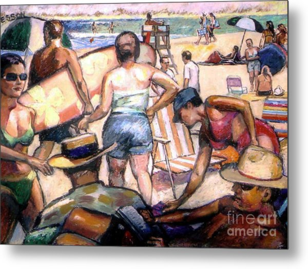 People On The Beach Metal Print