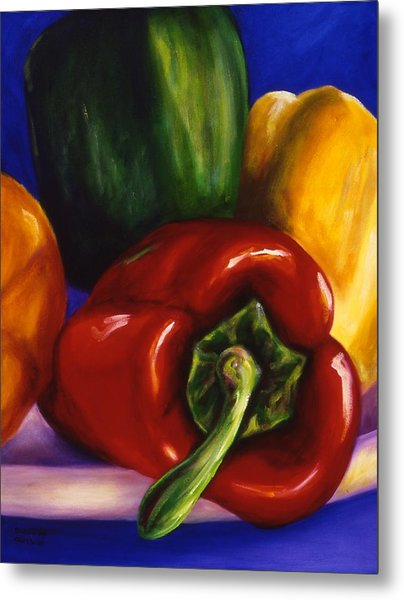 Peppers On Peppers Metal Print