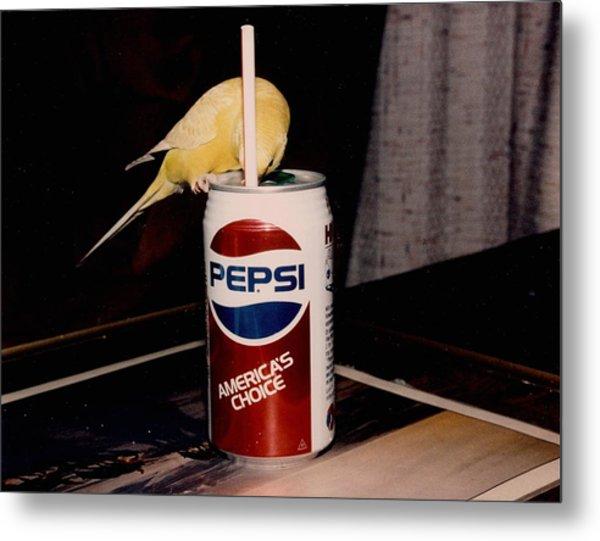 Pepsi Girl Metal Print