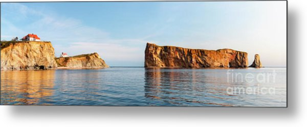 Metal Print featuring the photograph Perce Rock At Gaspe Peninsula by Elena Elisseeva