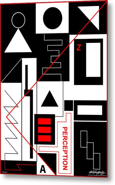 Perception I - Text Metal Print by Asbjorn Lonvig