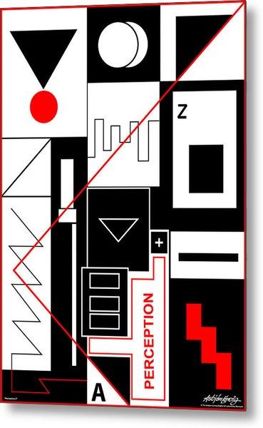 Perception II - Text Metal Print by Asbjorn Lonvig