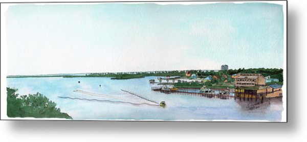 Perdido Key Bay Metal Print