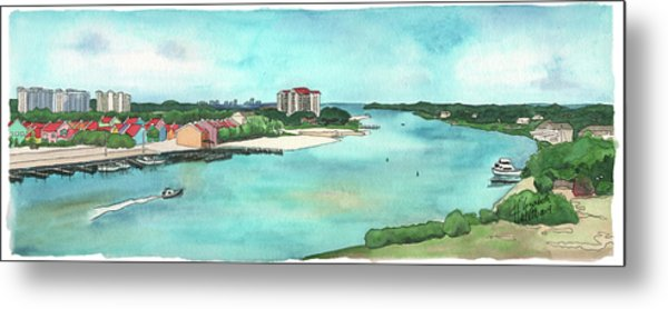 Perdido Key River Metal Print