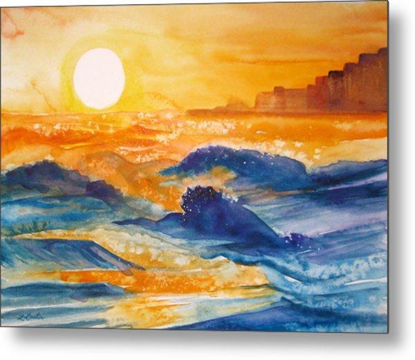 Perdido Key Sunset Metal Print by L Lauter