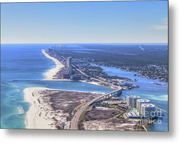 Perdido Pass Bridge 4319 Metal Print