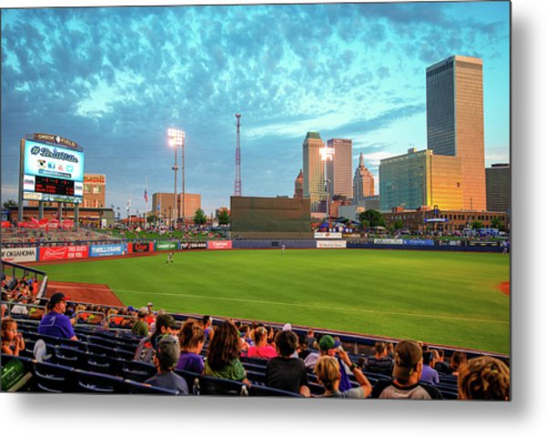 Metal Print featuring the photograph Oneok Stadium - Tulsa Drillers Stadium View by Gregory Ballos