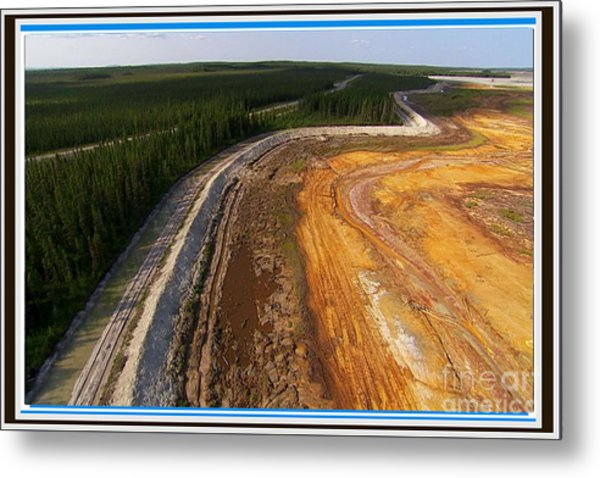 Perfect Poster Of An Ugly Polluted Landscape Of North America Read Canada Metal Print