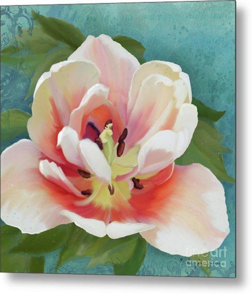 Perfection - Single Tulip Blossom Metal Print